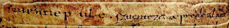 Naše kniežatá a iní naši predkovia chodievali na konci VIII. a v IX. stor. na púte do ktoréhosi severotalianskeho kláštora. Chodili sem aj pútnici z Nemecka, Slovinska, Chorvátska, Srbska a Bulharska. Svoje mená zapisovali, alebo dali zapísať na okrajoch pergamenového evanjelia, ktoré samo pochodí zo VI. storočia a dnes je uložené v kláštore v Cividale (slovinsky Čedad) blízko slovinských hraníc. Je v ňom zapísaný aj Svätopluk (Suentiepulc), jeho manželka Svätožizňa (Szuentezizna) a ich syn Predeslav (Predezlauz).