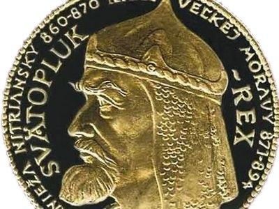 Medaila so Svätoplukom.