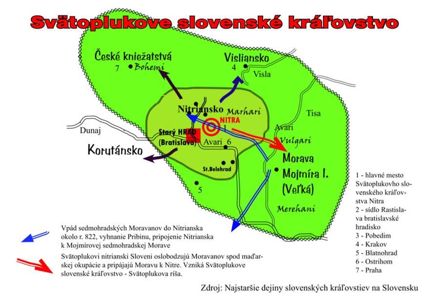 Svätoplukove slovenské kráľovstvo. Okrem oficiálnej československej historickej verzie Veľkej Moravy existuje aj niekoľko alternatívnych. Jedna z nich je teória Rudolfa Iršu, ktorá sa volá - Svätoplukove slovenské kráľovstvo.