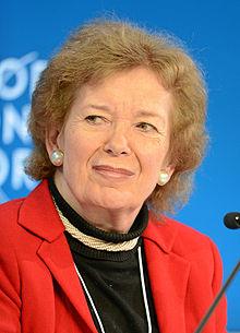 Mary Robinson v roku 2013. 7. prezident Írska.