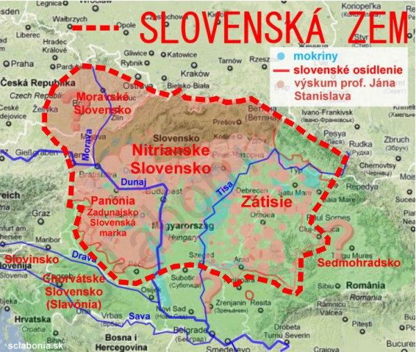 Slovenské osídlenie podľa máp Jána Stanislava.