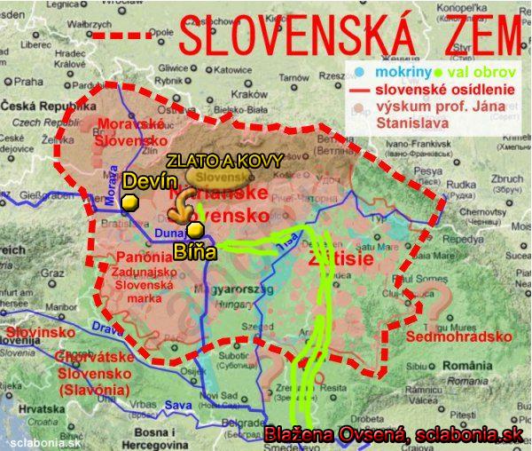 Val obrov smeruje od Pečeníc smerom na juh pozdĺž Hrona v dĺžke vyše 40 km. Potom vraj pokračuje do Maďarska. Na jeho konci, pri Dunaji, leží obec Bíňa - nevýslovná a ničomu známemu nepodobná pevnosť.