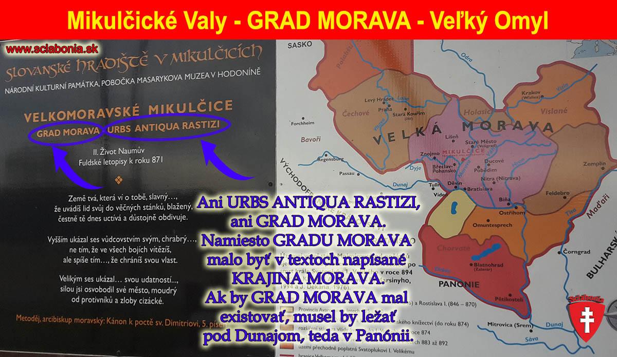 Mikulčice ako Grad Morava - veľký omyl. Po kliknutí sa obrázok zväčší.