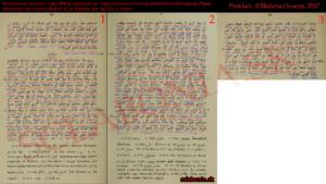 Preklad Arabských správ o Slovenoch podľa môjho prekladateľa. Červenou farbou je arabská výslovnosť, modrou slovenský význam slova.